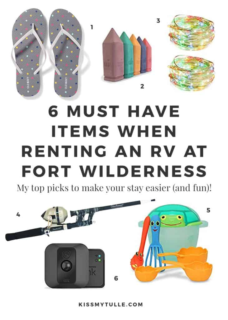 Since so many of you are also interested in RVing at #FortWilderness, I thought I'd share six must have items when renting an #RV at Fort Wilderness. #camping #Disney #WaltDisneyWorld #cdc #tmom