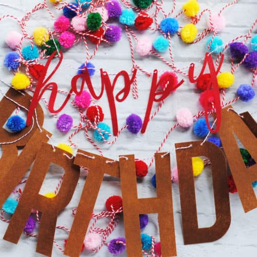"An easy to make and affordable felt ""Happy Birthday"" banner perfect for using year after year. That you can DIY using your Cricut Maker!"