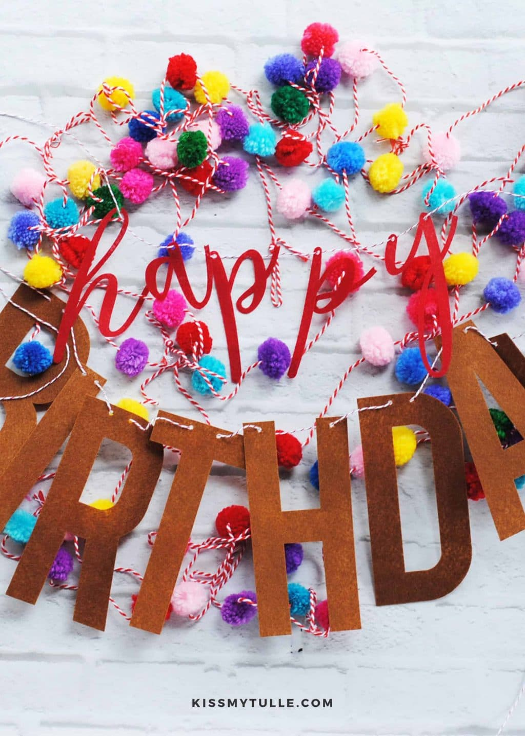 """An easy to make and affordable felt """"Happy Birthday"""" banner perfect for using year after year. That you can DIY using your Cricut Maker!"""