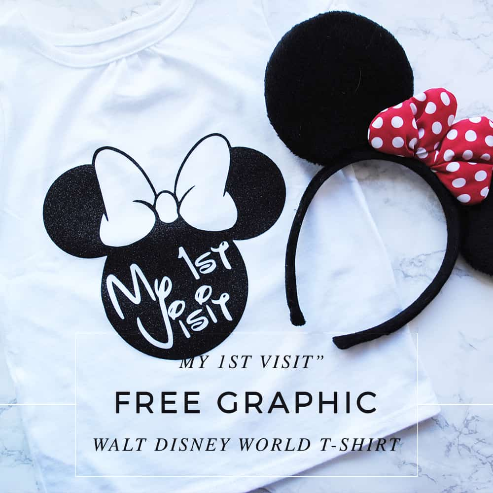 "San Antonio lifestyle blogger, Cris Stone, shares how to make a ""My 1st Visit"" T-shirt for Walt Disney World using your Cricut Explore Air. Find out more!"
