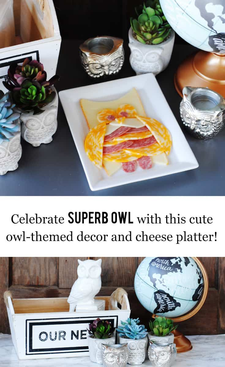 What I love best about this basket I pulled together at @TuesdayMorning (I mean, other than being SO cute and SO affordable), is that it doubles as decor and a gift. #SuperbOwl #thebiggame #decor #farmhousechic #owls #TuesdayMorningFinds #ad