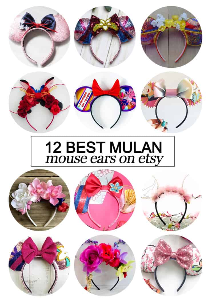Want to snag some of your own custom ears? Here's the 12 best #Mulan inspired Mouse ears on #etsy! #fashion #Disney #CDC #tmom #Disneyland #WaltDisneyWorld #Mouseears #handmade #LuanrNewYear