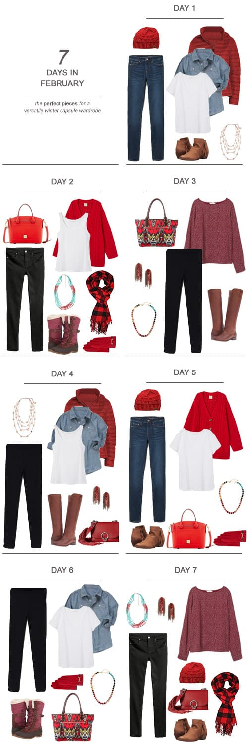 Texas Mom Blogger, Kiss My Tulle, is sharing 7 Days in February : The Perfect Pieces for a Versatile Winter Capsule Wardrobe #ootd #February #winter #capsulewardrobe #sahm