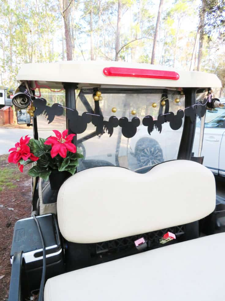 Here's how to #DIY a #MickeyMouse garland for your #FortWilderness golf cart. #Disney #CDC #handmade #WaltDiseyWorld #RVing #camping
