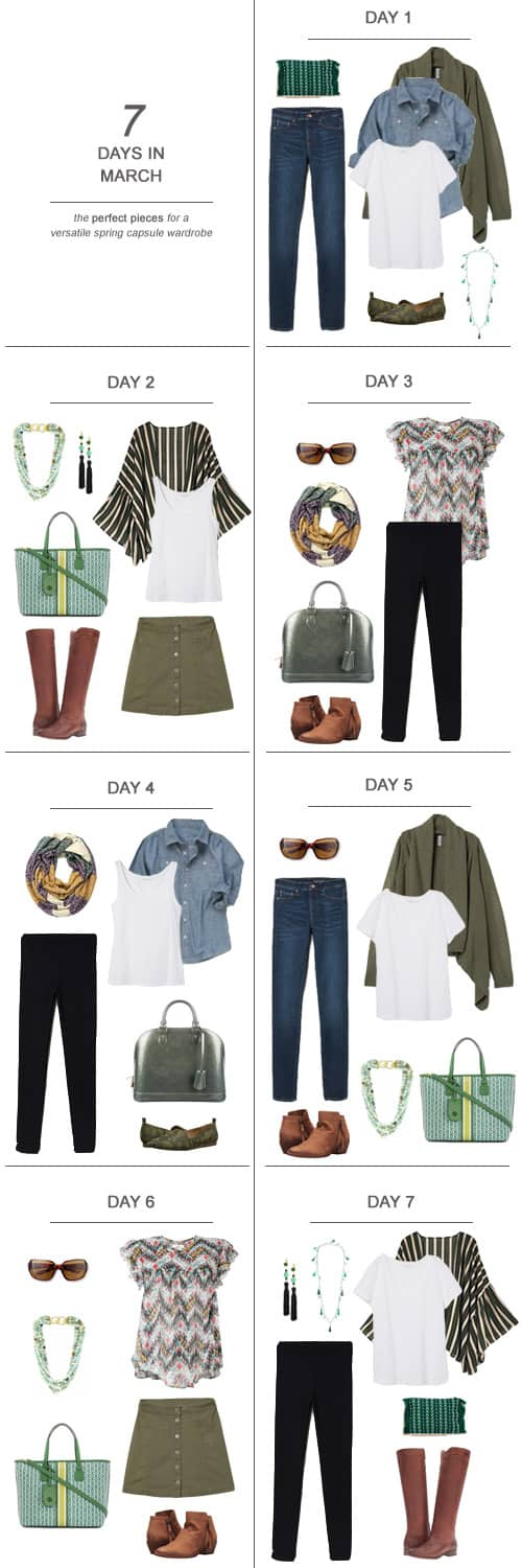 Texas Mom Blogger, Kiss My Tulle, is sharing 7 Days in March : The Perfect Pieces for a Versatile Spring Capsule Wardrobe #ootd #March #spring #capsulewardrobe #sahm