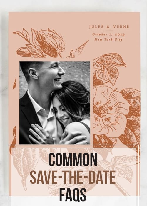 Texas Blogger, Kiss My Tulle, is sharing some advice regarding the first bit of your wedding's #stationery: the save-the-dates. #weddings #Minted #savethedates