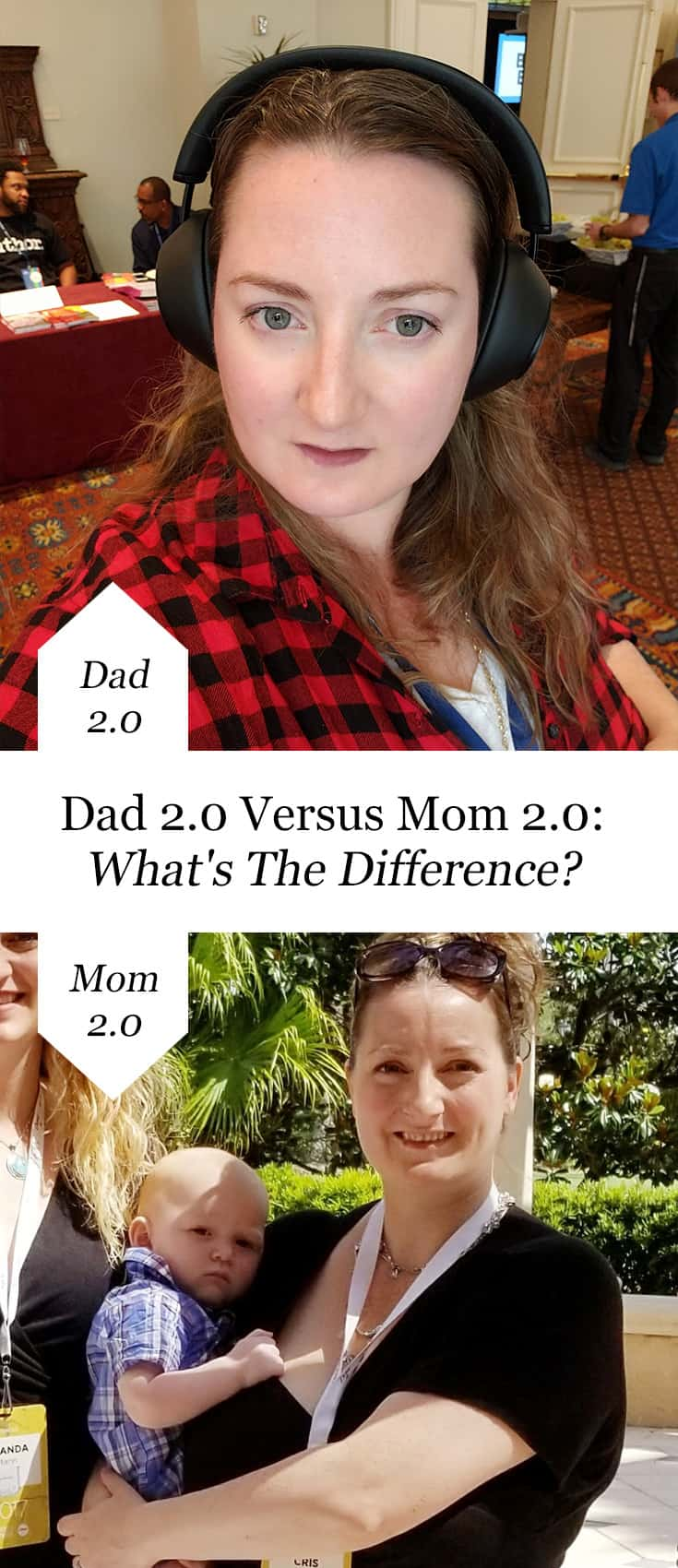 It was really interesting to me how, while very similar, the Mom 2.0 and Dad 2.0 #blogging conferences are also very different. #mom2summit #dad2summit