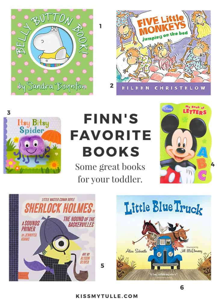 We have tons of books in our house right now but, because kids are #kids, ours have their favorites that they want read over and over... and over and over and over. Here's a rundown of Finn's favorite #books right now! #reading #toddler