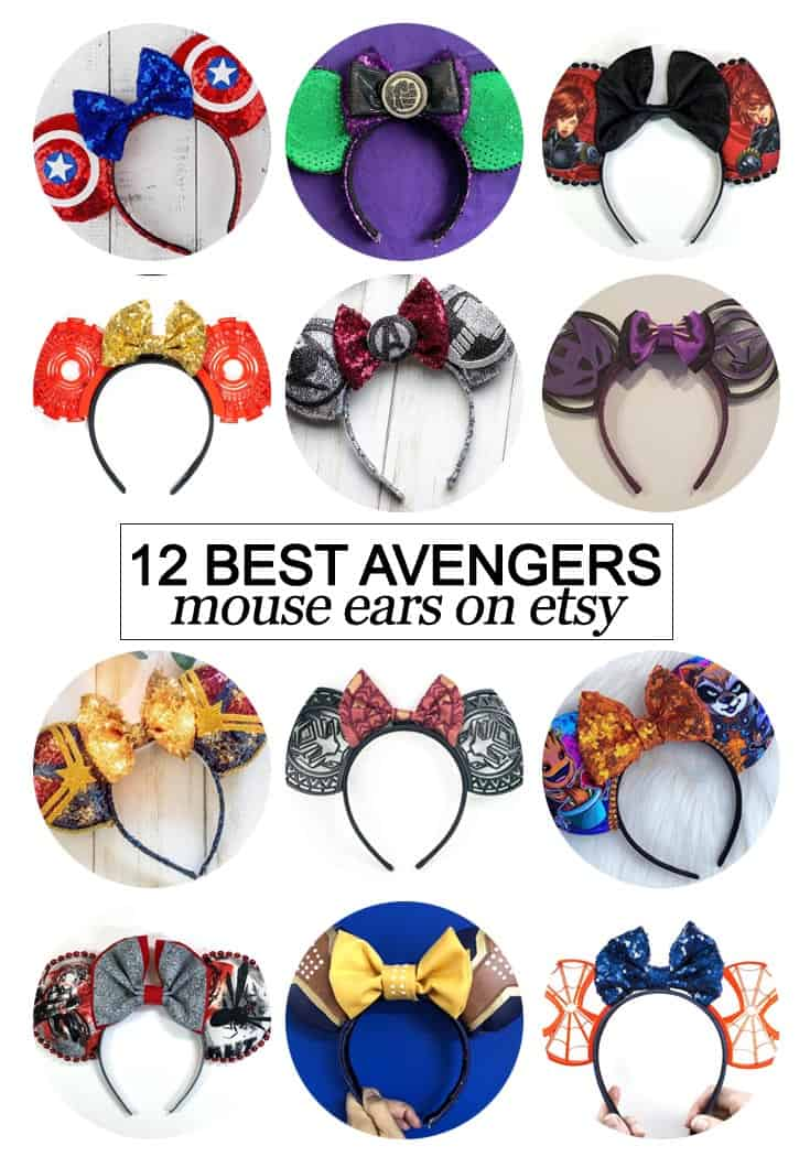 Want to snag some of your own custom ears? Texas Mom Blogger, Kiss My Tulle, is sharing the 12 best #Avengers inspired Mouse ears on #etsy!