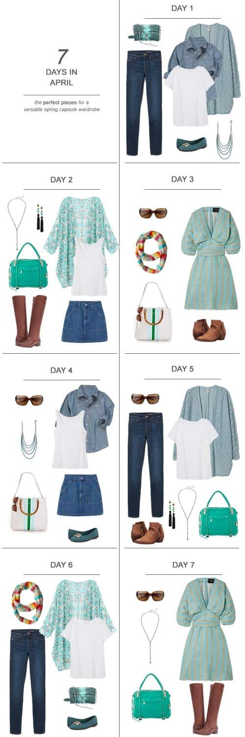 Texas Mom Blogger, Kiss My Tulle, is sharing 7 Days in April : The Perfect Pieces for a Versatile Spring Capsule Wardrobe