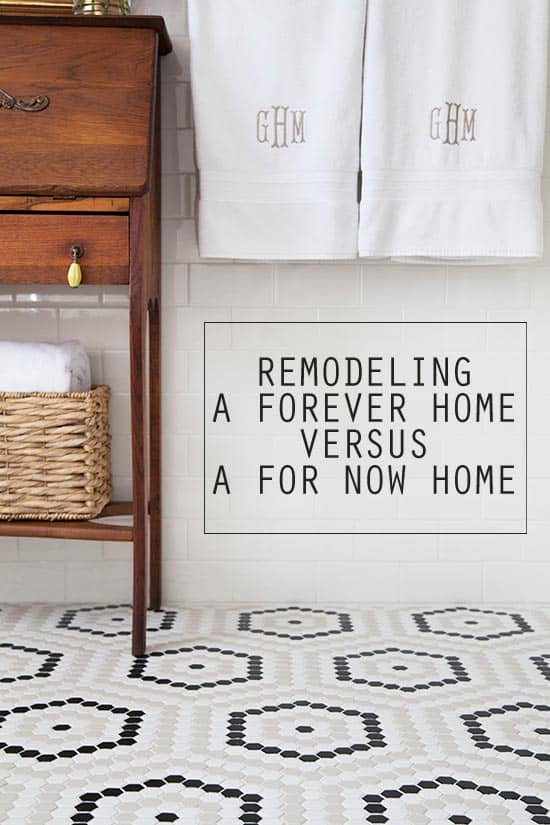 Texas Mom Blogger, Kiss My Tulle, is sharing the differences between remodeling a Forever Home versus a For Now Home.