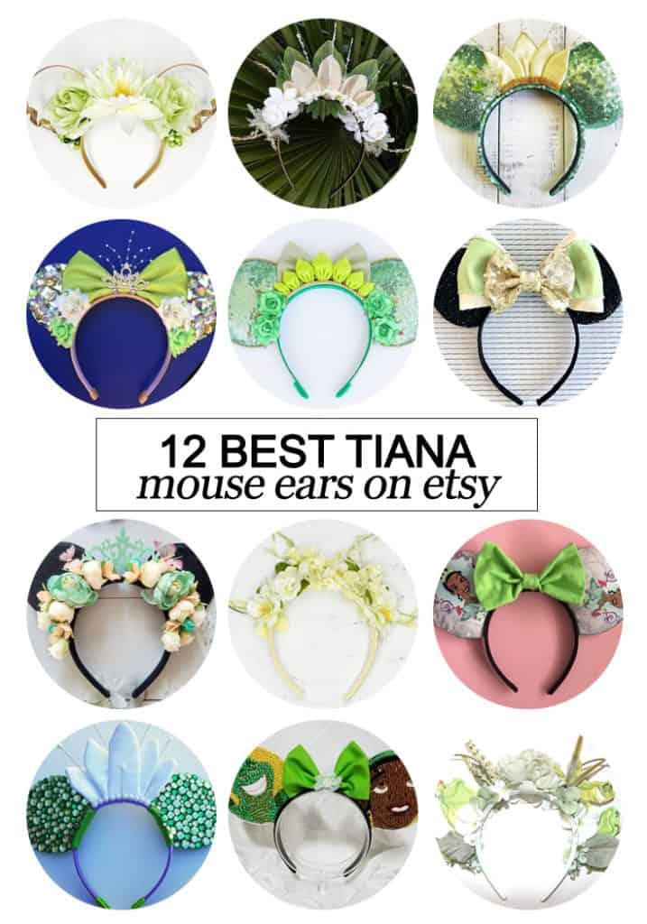 Want to snag some of your own custom ears? Texas Mom Blogger, Kiss My Tulle, is sharing the 12 best #Tiana inspired Mouse ears on #etsy!