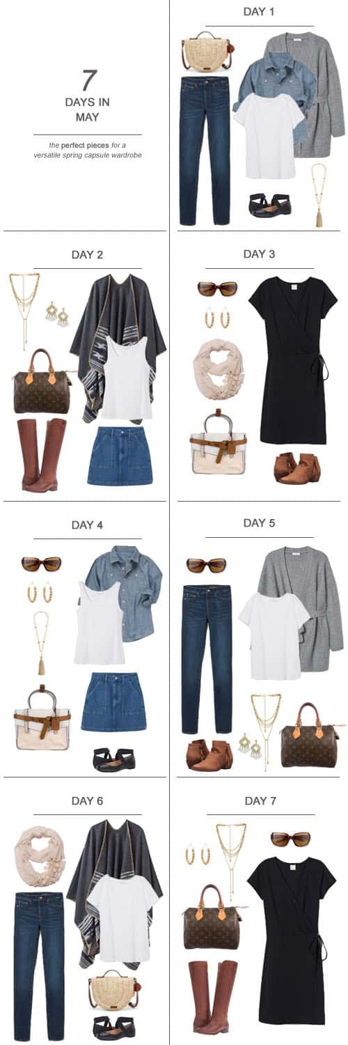Texas Mom Blogger, Kiss My Tulle, is sharing 7 Days in May : The Perfect Pieces for a Versatile Spring Capsule Wardrobe