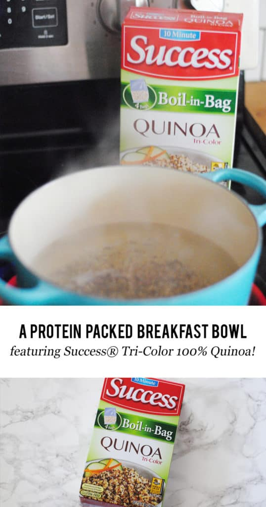 AD A Protein Packed Breakfast Bowl featuring Success® Tri-Color 100% Quinoa #QuinWOW
