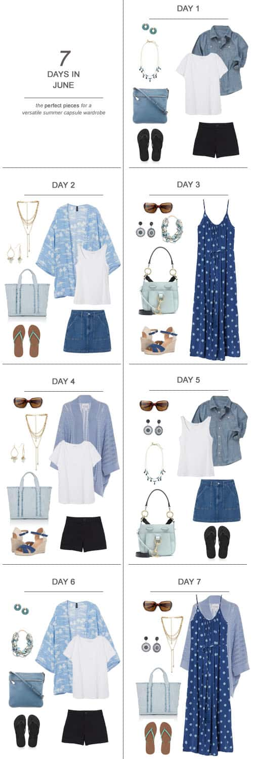 Texas Mom Blogger, Kiss My Tulle, is sharing 7 Days in June : The Perfect Pieces for a Versatile Summer Capsule Wardrobe