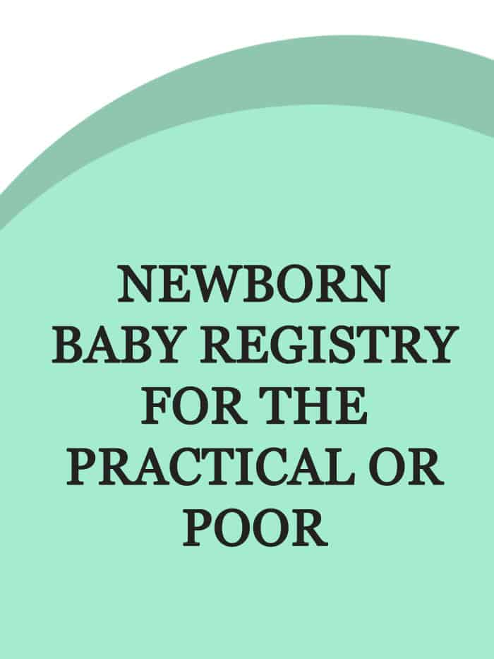 When I was pregnant and trying to plan for our first baby, it seemed like there were a MILLION must have baby lists out there. I pinned and read each and every one and... then ignored about 99% of them. Read on for some real suggestions of newborn baby registry for the practical or poor.