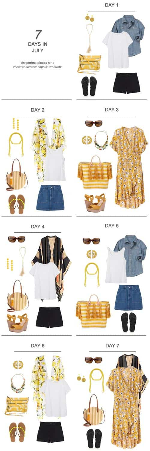 Texas Mom Blogger, Kiss My Tulle, is sharing 7 Days in July : The Perfect Pieces for a Versatile Summer Capsule Wardrobe