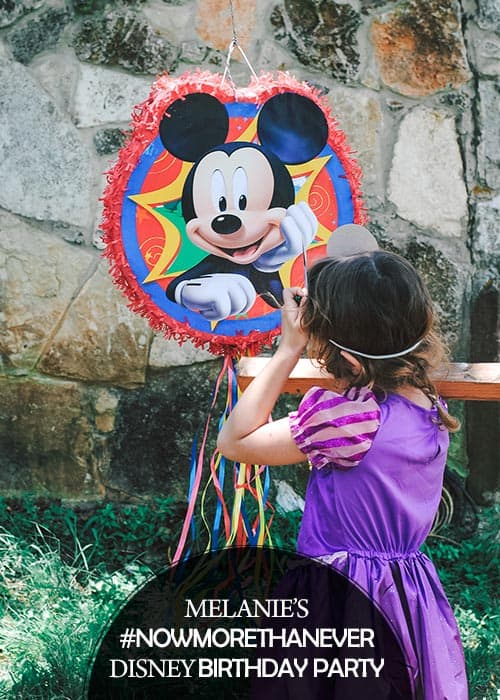 Melanie turned six this month and, since she really wanted it Disney themed, I partnered with Disney to throw her a #NowMoreThanEver birthday party! #ad
