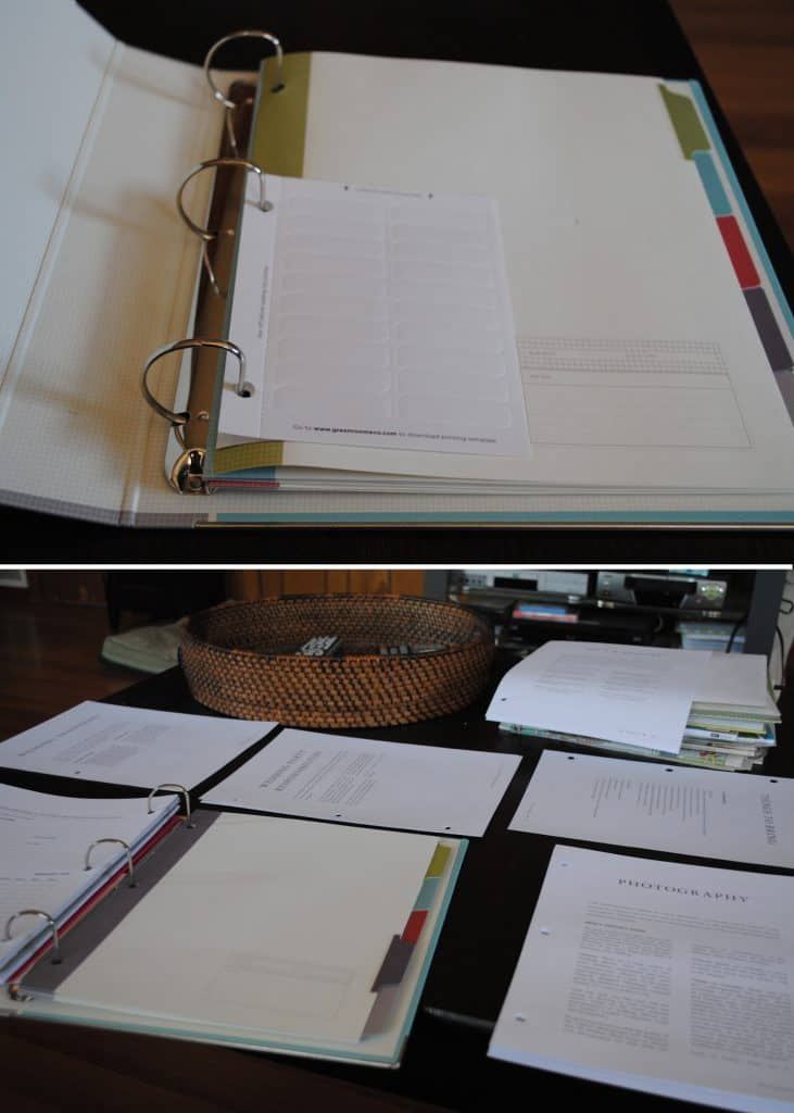 Texas Wedding Blogger, Kiss My Tulle, shares how she customized a wedding planner binder for her own wedding.