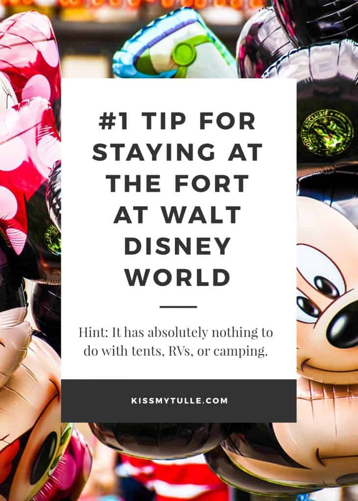 Texas Mom Blogger, Kiss My Tulle, shares her #1 tip for staying at The Fort at Walt Disney World. Hint, it's awesome for families with young kids!