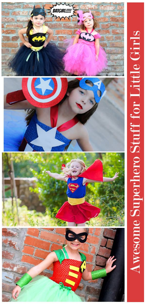 Texas Mom Blogger, Kiss My Tulle's little girl LOVES superheroes. Is your little one the same? Then check out this awesome superhero stuff for little girls: