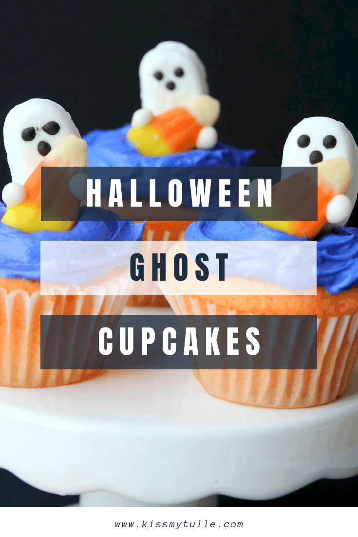 Wondrous Cute And Easy Halloween Ghost Cupcakes Kiss My Tulle Birthday Cards Printable Trancafe Filternl