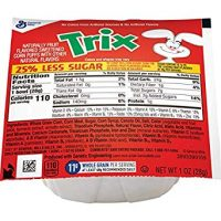 96 Pack of Trix 25% Less Sugar Bowl Pak Cereal