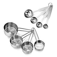 Set of 8 Stainless Steel Measuring Spoons and Cups