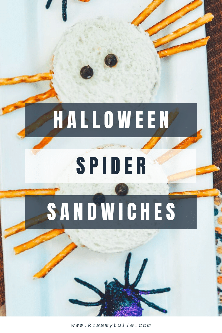 San Antonio lifestyle blogger, Cris Stone, shares how to make these super easy and adorable Halloween Spider Sandwiches! Find out more!