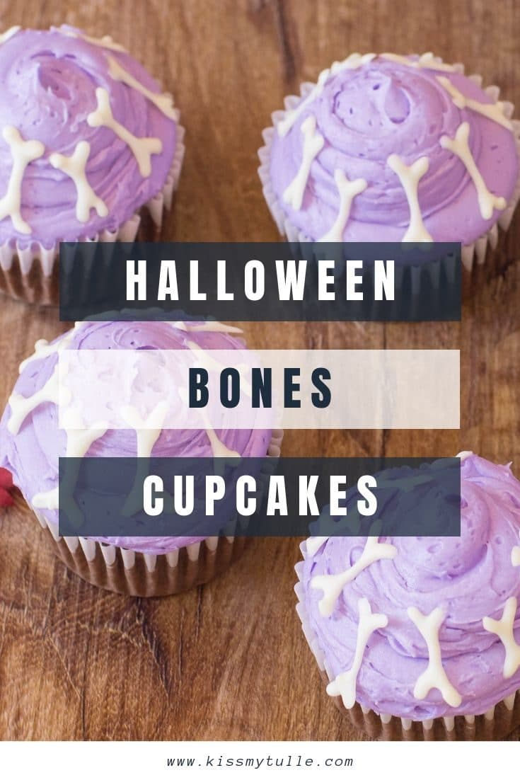 San Antonio lifestyle blogger, Cris Stone, shares some adorable purple Halloween bones cupcakes perfect for a class Halloween party, to share at work, or just for fun at home. Find out more!