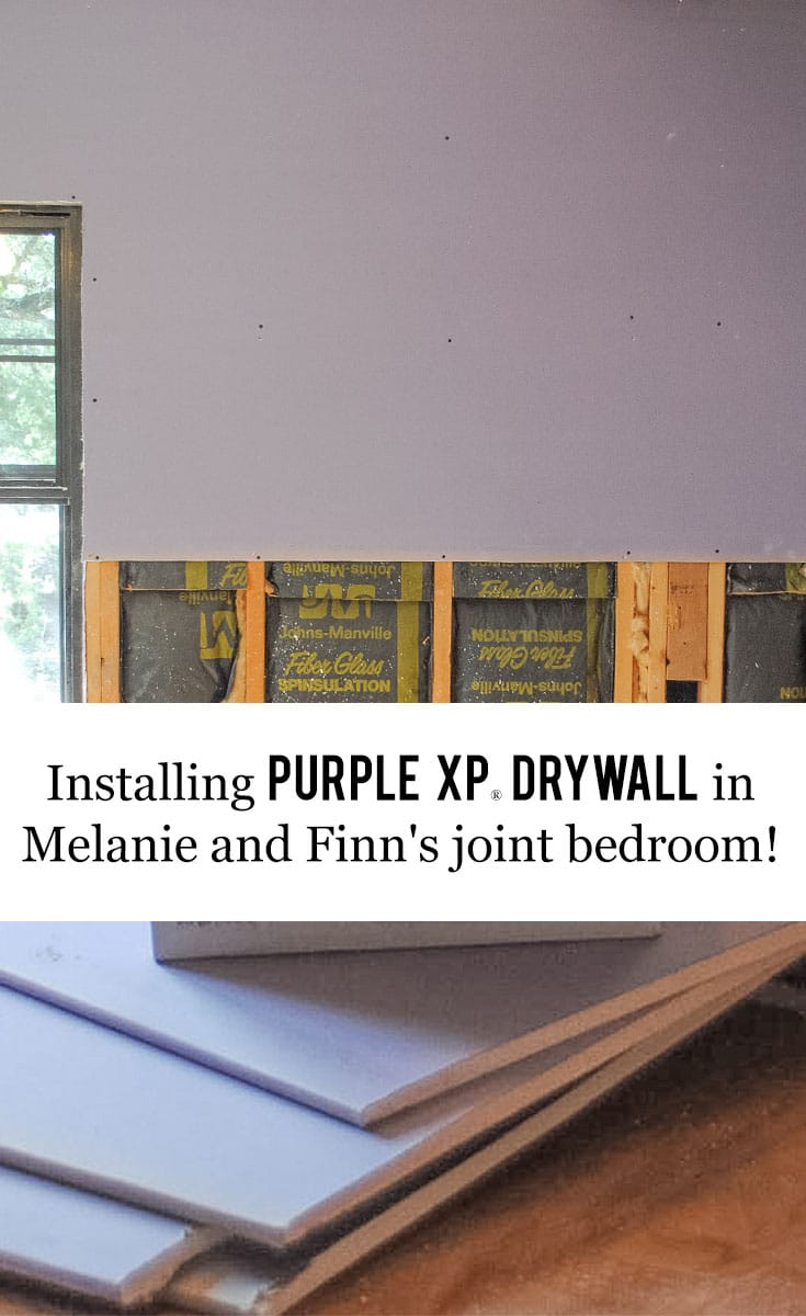 San Antonio lifestyle blogger, Cris Stone, shows off how amazing her kids' room looks (and SOUNDS) amazing thanks to the @AskForPURPLE XP drywall expertly installed by Joe and his crew over at Bexar Essentials Remodeling. #ad #IC #AskForPURPLE