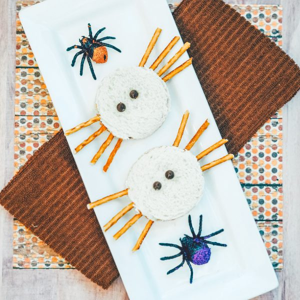 Adorable Halloween Spider Sandwiches