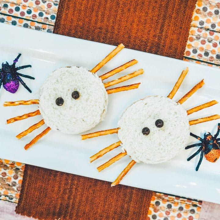 Adorable Halloween Spider Sandwiches