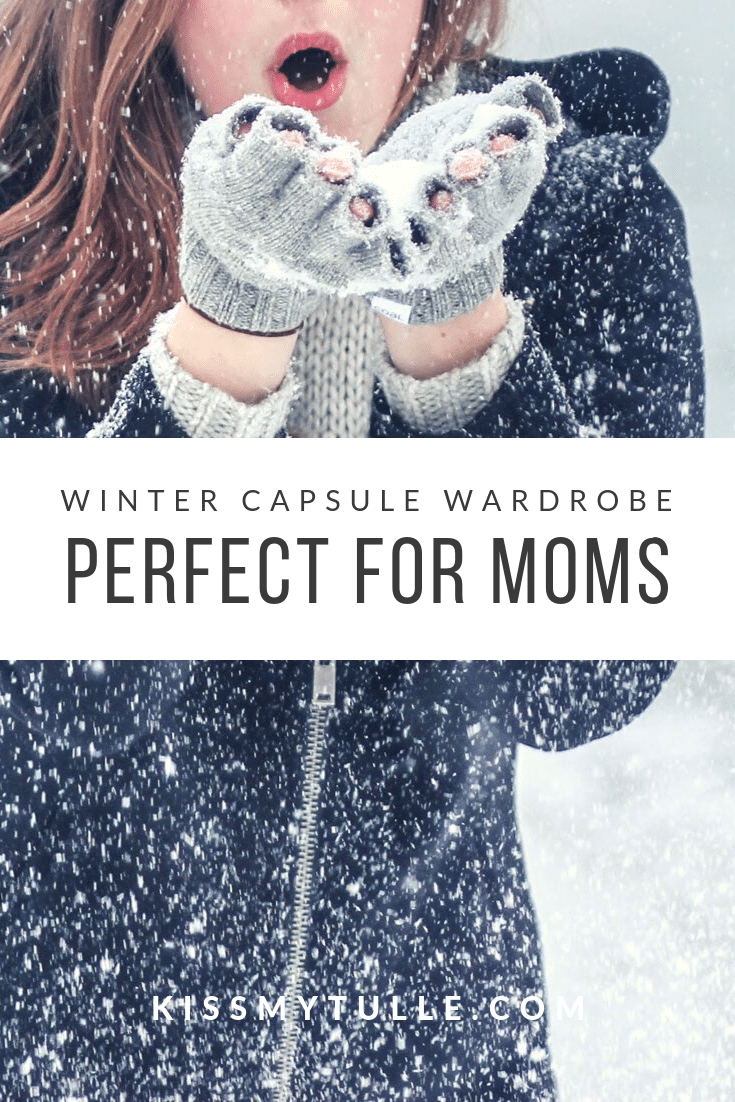 Texas Mom Blogger, Kiss My Tulle, is sharing some solid and affordable winter capsule wardrobe pieces (plus a couple of investments) for a few looks perfect for a stay-at-home mom.