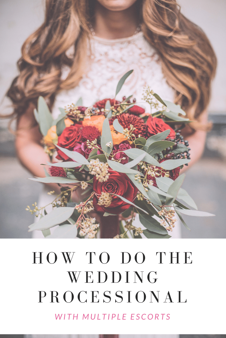 San Antonio lifestyle blogger, Cris Stone, shares several ways to handle a wedding processional with multiple escorts. Find out more!