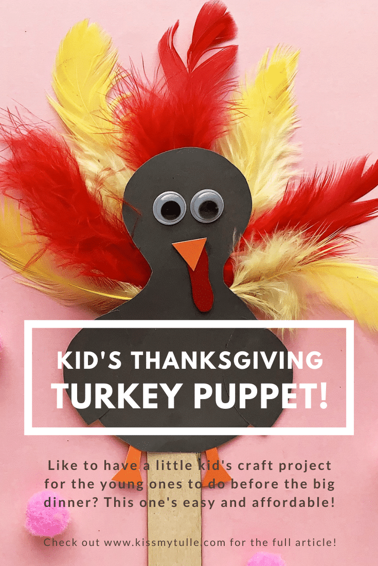 San Antonio lifestyle blogger, Cris Stone, shares this kid's Thanksgiving turkey puppet DIY for the young ones to do before the big dinner. It's really easy and needs little to no adult help (The Best Projects, in my opinion).