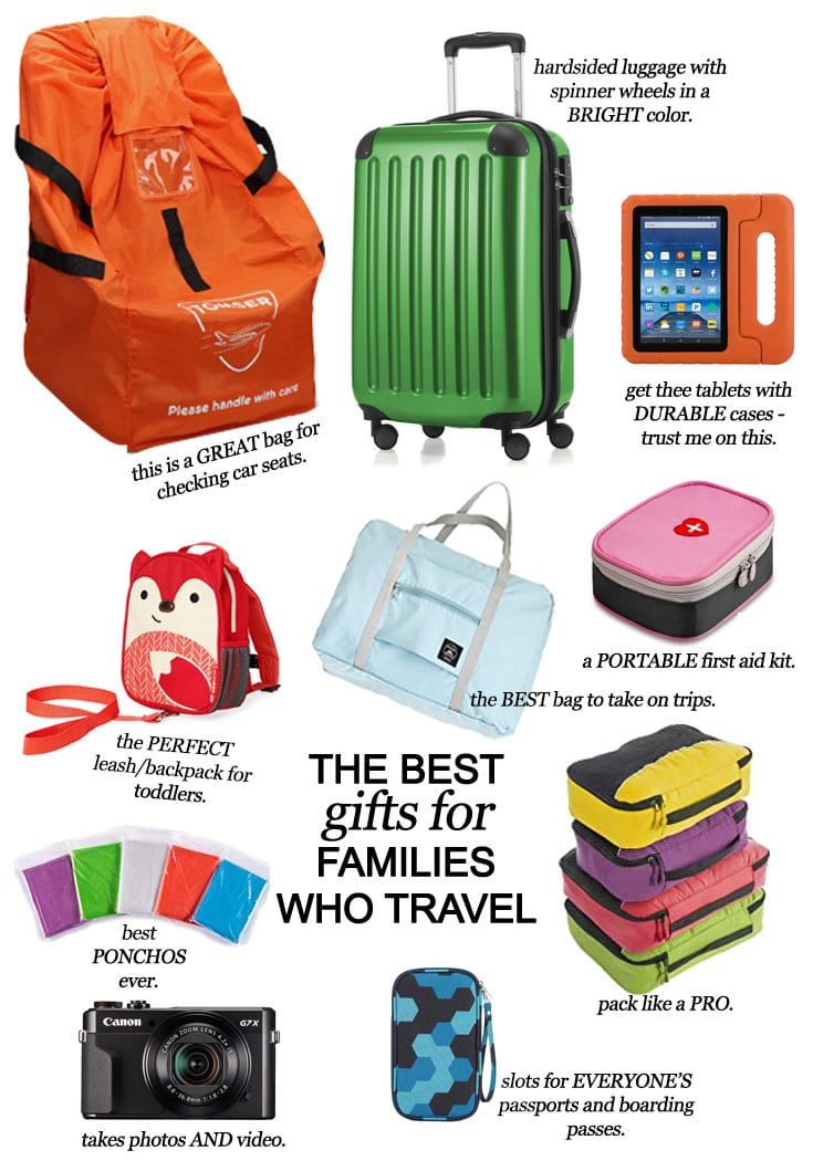 San Antonio lifestyle blogger, Cris Stone, shares her top suggestions for gifts for the families who travel in your life.