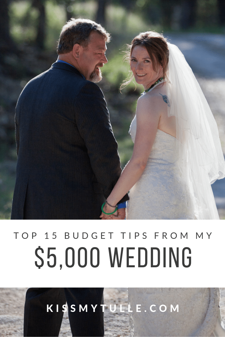 Kiss My Tulle, Alaskan lifestyle blogger, shares the top 15 budget tips from her $5,000 wedding! Here's the best inspiration, tips, and advice!