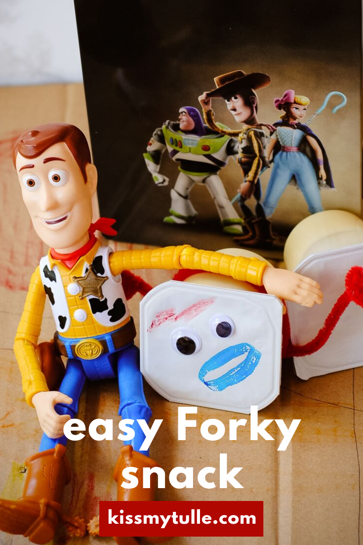 "San Antonio lifestyle blogger, Cris Stone, shows you how to DIY this easy ""@ToyStory 4"" Forky snack for your next family movie night! @BestBuy #ad #ToyStory4"
