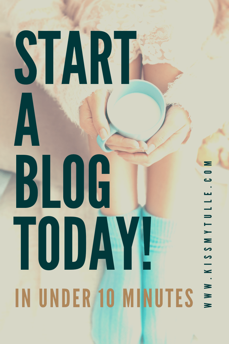 In this post, Texas Mom Blogger, Kiss My Tulle, shows you how to start a blog in four easy steps - get a domain name, get a host for your blog, install WordPress, and choose a theme. CLICK THROUGH to start a blog in less than ten minutes!