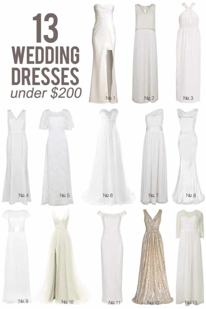 Alaskan lifestyle blogger, Kiss My Tulle, shares how you can have that special wedding dresses AND it doesn't have to cost you the same as a new car! Interested? Then take a moment and check out this roundup of 13 wedding dresses under $200! Find out more!