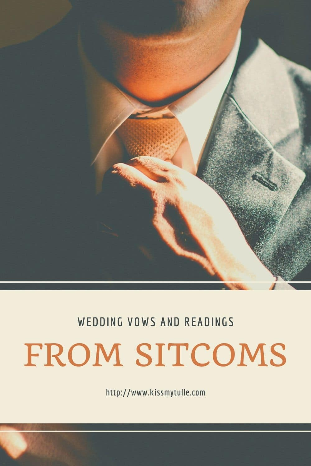 Looking for fun, alternative vows or readings for your wedding with a more comedic lean? Well, here ya go! Some wedding vows - television sitcom style!