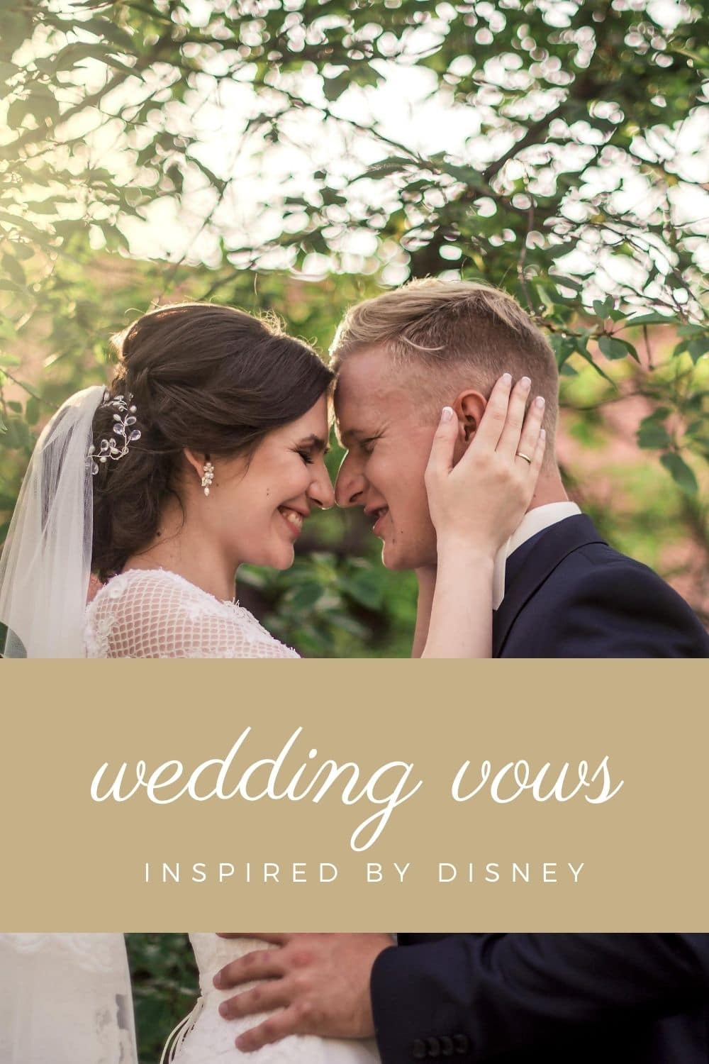 Looking for alternative vows or readings for your wedding? Here's a few with a fun and familiar lean from the wonderful world of Disney.