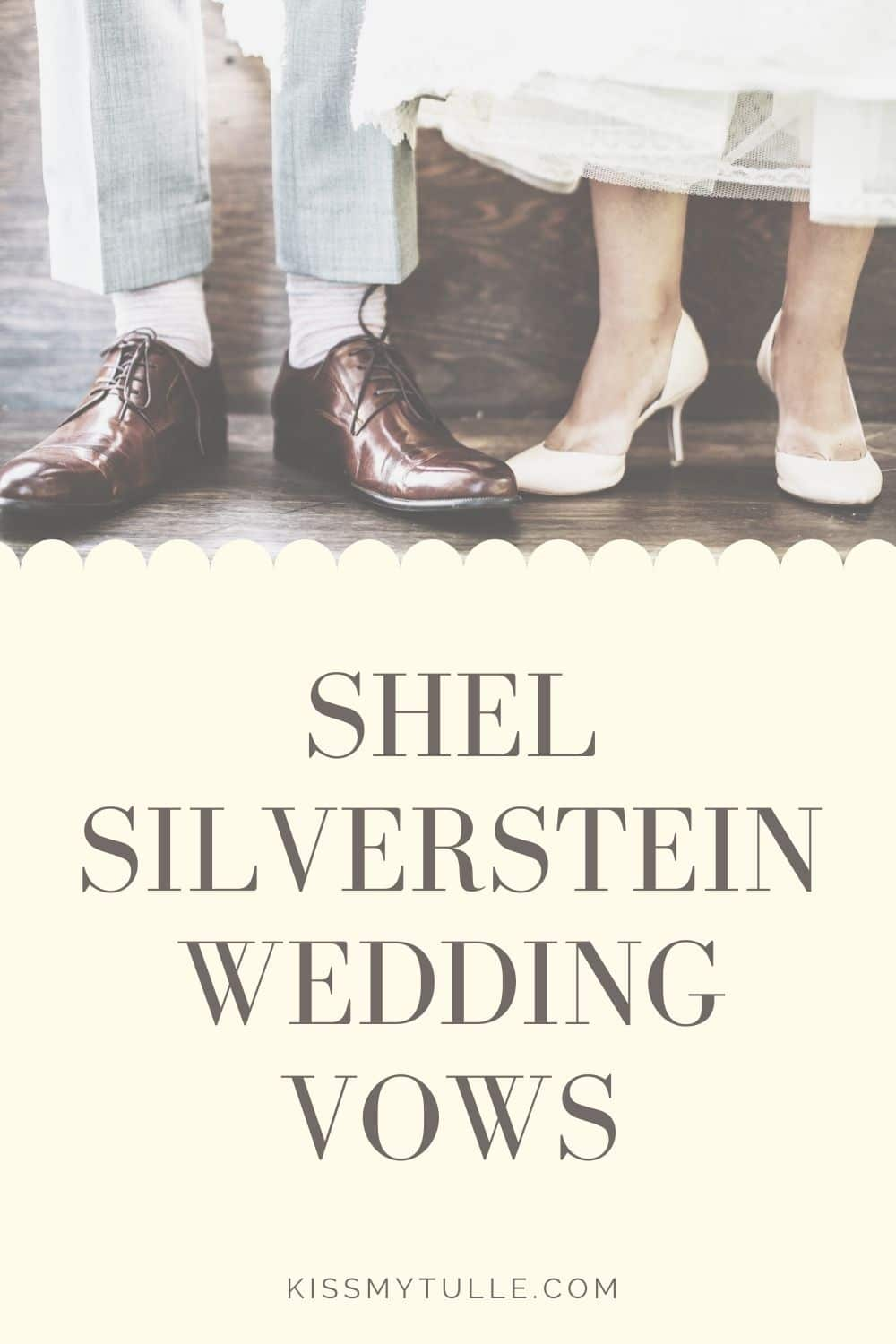 Looking for alternative readings or vows with a sweeter, more innocent lean? Well, here ya go! Some wedding vows - Shel Silverstein style!