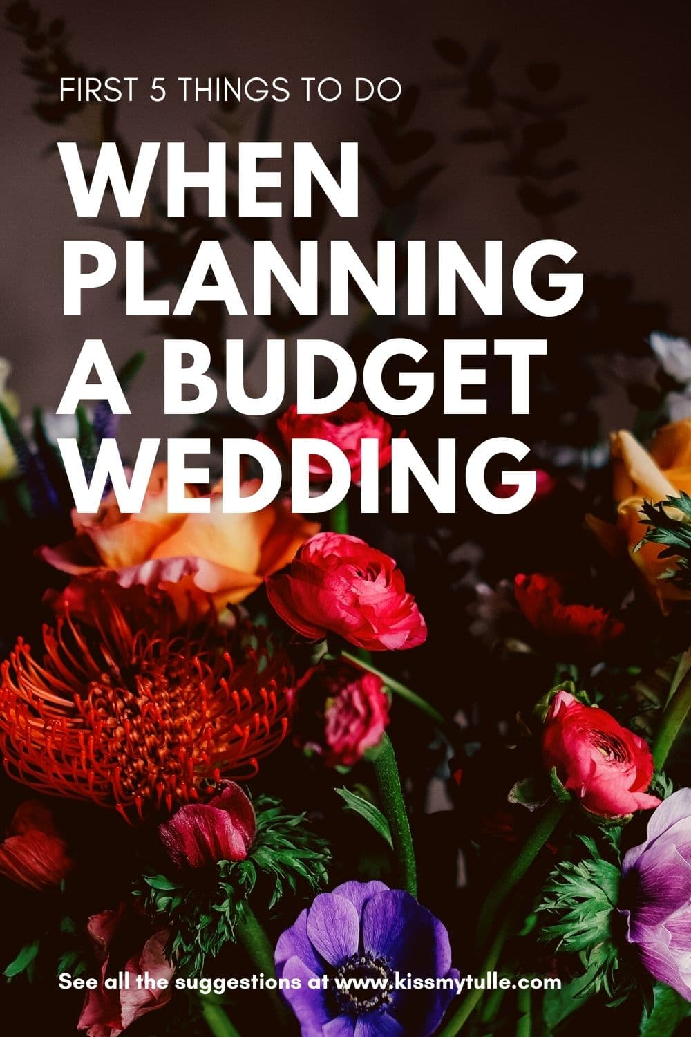 So, you're going to plan a budget wedding. YAY! You're probably so excited to get started and maybe you've already been pinning ideas. But before you get too carried away, let's discuss the first 5 things to do when planning a budget wedding.